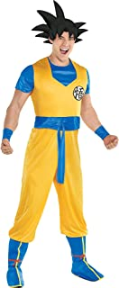 Dragon Ball Z Goku Costume for Adults, Standard Size, Includes a Jumpsuit, a Hair Headpiece, and Boot Covers