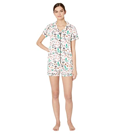 BedHead Pajamas Short Sleeve Classic Shorty Pajama Set (Sushi) Women