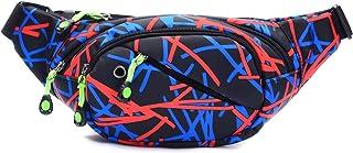 Travel Fanny Pack Fashion Waist Chest Bag Adjustable Belt Chest Shoulder Pack Casual Bag Bum Bags Hip Pouch for Women Men ...