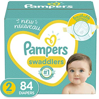 Diapers Size 2, 84 Count - Pampers Swaddlers Disposable Baby Diapers, Super Pack (Packaging May Vary)