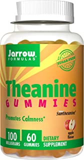 Jarrow Formulas Theanine Gummies for Children, Promotes Learning & Calmness, 100 mg Gummies, 60 Count