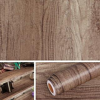 Livelynine Papier Adhésif pour Meuble Bois Papier Peint Imitation Bois pour Table Porte Armoire Chambre Cuisien Bureau Fil...