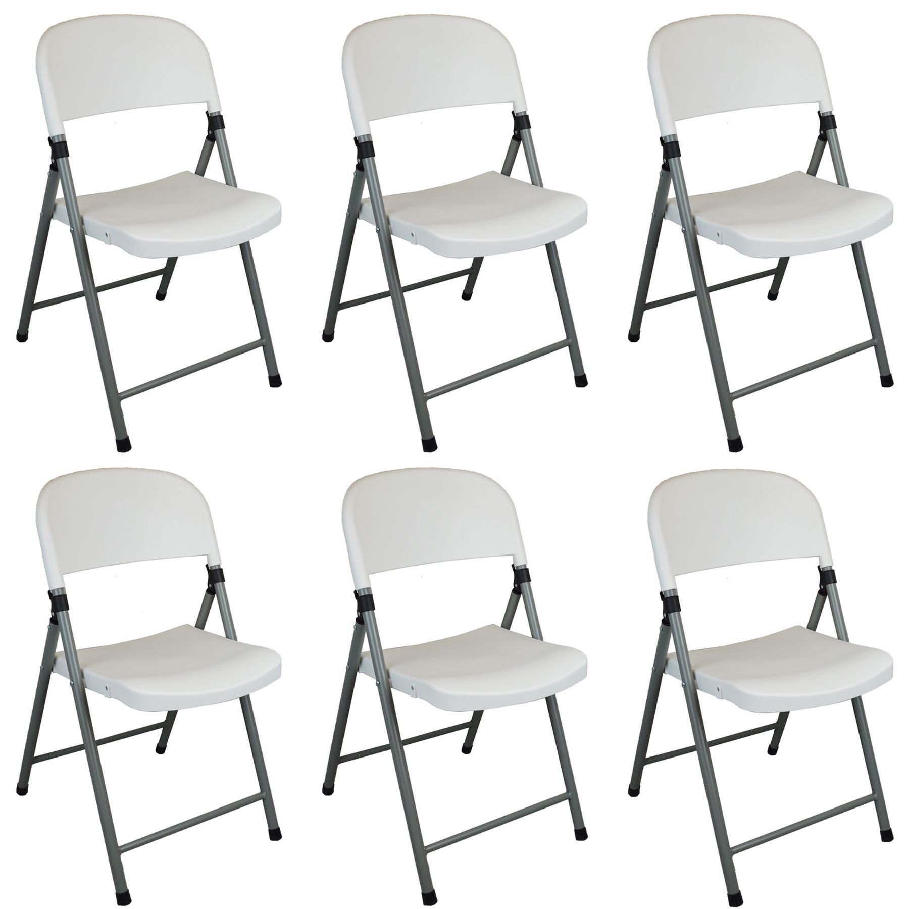 Harbour Housewares Heavy Duty Plastic Folding Camping /& Office Chair for Indoor /& Outdoor Use Pack Of 6