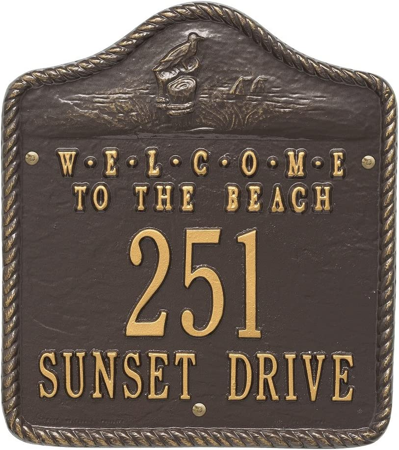 Albuquerque Mall Welcome to The Beach Super popular specialty store Address Plaque 12.5