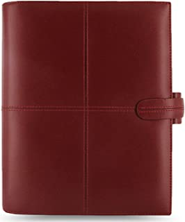 Filofax Classic A5 size 6 rings Organiser/Agenda Cherry Italian colour Italian Leather 424072 paper size :148 x 210mm with Diary 2018