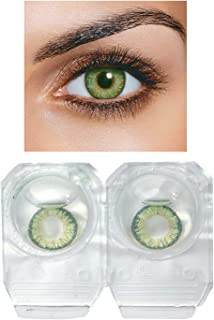 b210de17fe09 Voqa Dark Green Color Monthly Disposable Color Contact Lens with lens  solution