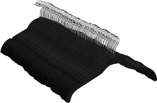 Amazon Basics Lot de 100 Cintres en Velours pour Chemises/Robes, Noir