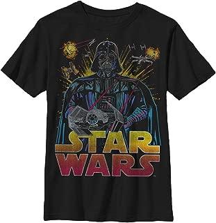 Boys' Big Darth Vader Ancient Threat Logo Graphic Tee
