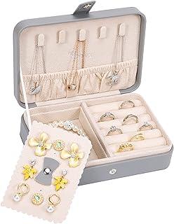 Voova Boîte à Bijoux Femme Rangement Bijoux et Voyage Petit Coffret à Bijoux Stockage Cas pour Bagues, Boucles D'oreilles,...