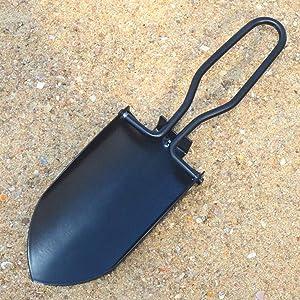 Toasis Garden Trowel Mini Outdoor Foldable Hand Shovel (Black)