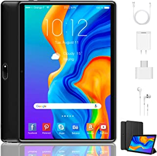 Tablet 10 Inch, Dual 4G LTE, 5G WIFI, Quad-Core, Android 9.0 Tablet PC, 3GB RAM 32GB ROM/128GB Computer Tablets, 8500mAh B...