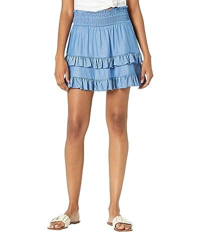 BCBGeneration Woven Ruffle Miniskirt T1TX3B17