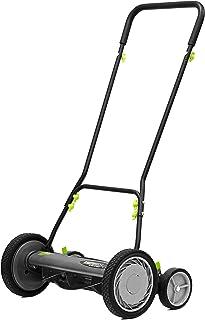 Earthwise 1816-18EW 18-Inch 5-Blade Push Reel Lawn Mower, Grey
