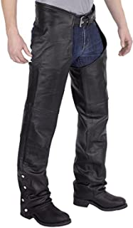 Men's Plain Motorcycle Leather Chaps