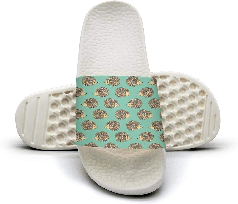 Pretty Women Cute Cartoon Animal Hedgehog Slip on Beach Sandals and Anti-Slip Shower Slipper Comfort Sandals