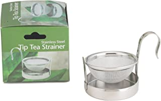 HIC Harold Import Co. HIC Tip Tea Strainer, 18/8 Stainless Steel, Single