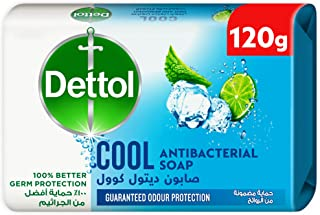 Dettol Instant Cool Antibacterial Bathing Soap Bar With Menthol And Eucalyptus, 120 gm