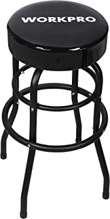 WORKPRO Bar Stool, Padded Swivel Shop Seat, Black, W112012A