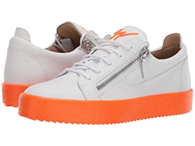 Giuseppe Zanotti Frankie Fluo Low Top Sneaker (White/Sunset) Men