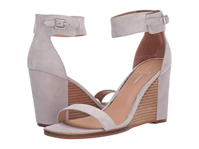 LINEA Paolo Elodie Wedge Sandal (Pale Grey Suede) Women