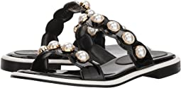 Pearl Ornament Flat Sandals