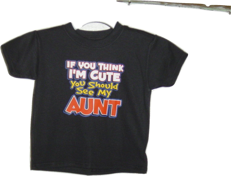 Hanes Cute Aunt Black t/Shirt for Kids