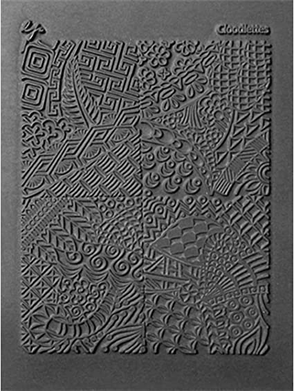 STRIPED TUBE Lisa Pavelka Rubber Stamp Impression Texture