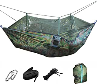 Double Hammock with Mosquito - Lightweight Portable Parachute Camping Hammocks, Mosquito Nylon Hammock for Indoor, Outdoo...