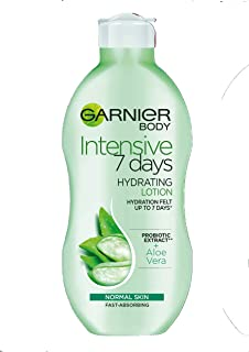 Garnier Intensive 7 Days Aloe Vera Probiotic Extract Body Lotion Normal Skin, Fast Absorbing Non-Greasy Non-Sticky Nourish...