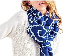 Women Scarf Winter Warm Shawl Flower Print Bandana Thicken Wool Scarves Brand Hijab Woman