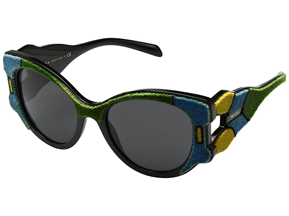 Image of Prada 0PR 10US (Azure/Yellow/Green/Grey) Fashion Sunglasses
