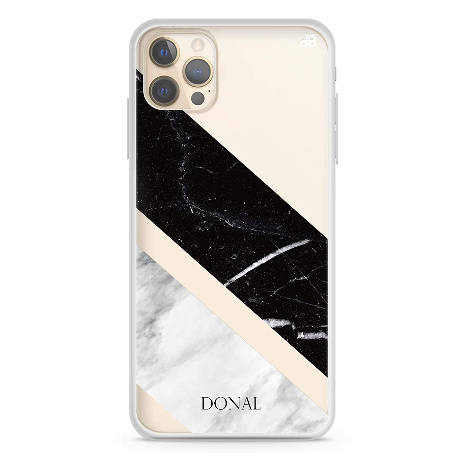 B W Marble iPhone 12 Pro Soft Colorado Springs Mall Case Clear Max free shipping iPhon