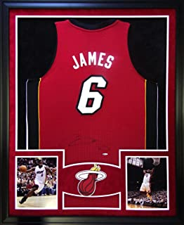 ec7c956d118c Lebron James Miami Heat Autograph Signed Custom Framed Jersey UDA Upper  Deck Authenticated Certified