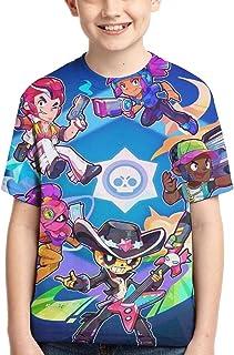 Brawl Stars Camisetas de Verano para niños y niñas Manga Corta Linda y Exquisita impresión 3D Camiseta Juvenil Camisa Info...