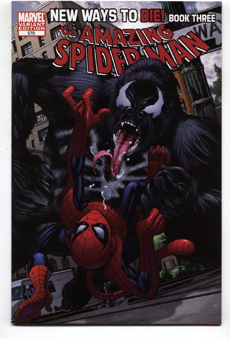 AMAZING SPIDER-MAN #570 Monkey Nippon regular agency Variant-Venom Anti vs Max 87% OFF Venom-Marve