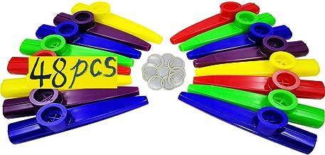 Fartime 48Pcs Plastic Kazoos With 40Pcs Kazoo Flute Diaphragms,Musical Instruments,Good..