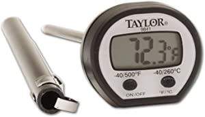 Taylor Precision Products Digital Instant Read Meat Food Grill BBQ Kitchen Cooking Thermometer With Pocket