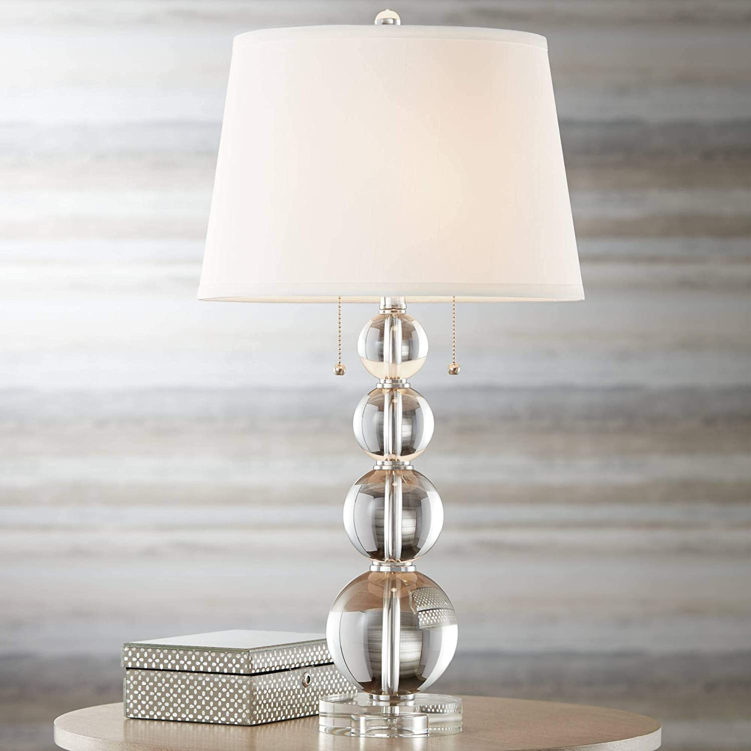 Modern Contemporary Style Table Lamp Crystal Super Special SALE held Stacked Ball New sales Clear