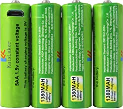 AA Rechargeable Batteries,USB Rechargeable Batteries,Long-Life Li-on AA Battery with Micro USB Charging Cable,1.5h Quick-Charger,AA High-Capacity,3000 Cycles Kaislaker 1.5V 1380MA