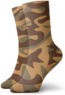 tyui7, Patrón de textura de camuflaje militar Calcetines de compresión antideslizantes Calcetines deportivos acogedores de 30 cm para hombres, mujeres, niños