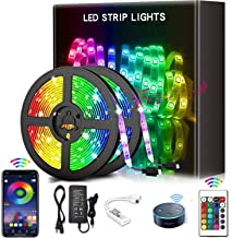 YOMYM LED Strip, LED Lights with Kit, Light Strip Controlled by Smart Phone, Wireless, WiFi 5050, Works with Android and i...