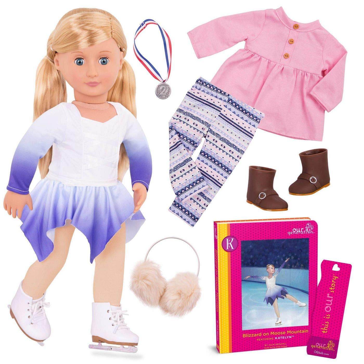"""Our Generation 18/"""" NATY Doll w Summertime Outfit Officially Licensed NIB//Sealed"""