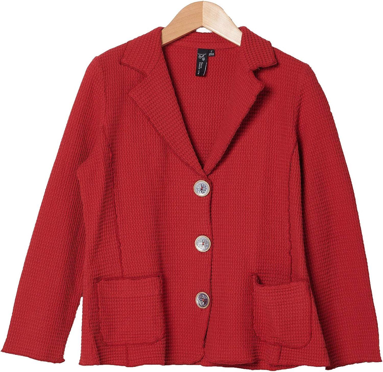 Focus 春の新作続々 Fashion Women's Cotton ブランド買うならブランドオフ Waffle SW-203 Sleeve Blazer Long