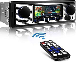 comprar comparacion Aigoss Autoradio Bluetooth Radio Coche Manos Libres FM Estéreo de Control Remoto 4 x 60W MP3 Radio Digital con Soporte AUX...