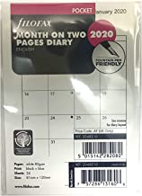 Filofax 2020 Pocket Month on Two Pages Refill, Monthly, Jan 2020- Dec 2020, 4.75 x 3.25 inches (C68210-20)