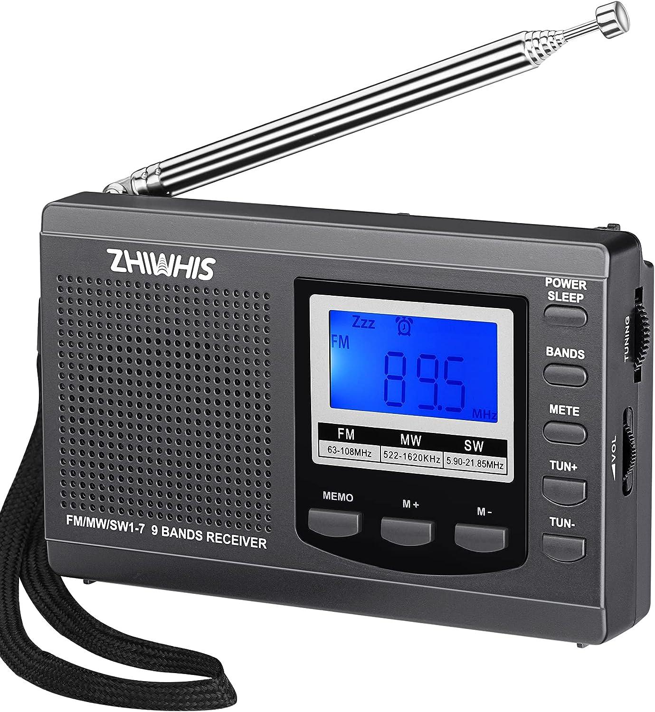 ZHIWHIS Portable Radio AM FM Shortwave [Alternative dealer] Best 5 popular with Recepti Radios