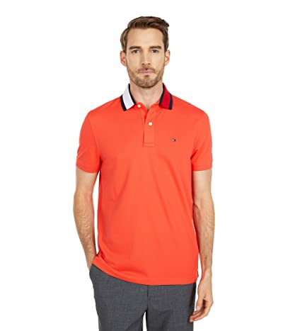 Tommy Hilfiger Adaptive Alan Custom Fit Polo Shirt with Magnetic Buttons (Exotic Coral) Men