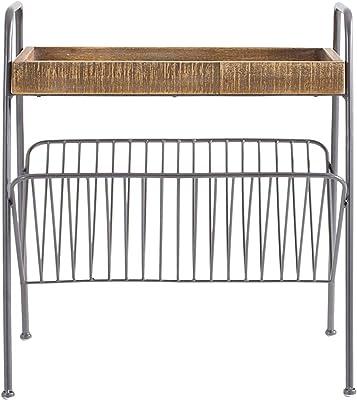 Marque Amazon - Rivet Table d'appoint en bois pour magazines, 54,5x43x60cm, Finition bois naturel