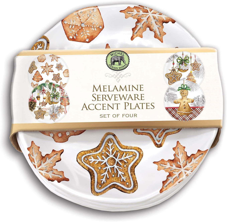 新入荷 流行 Michel Design Works 超安い Accent Plate 4 Treats of Holiday Set