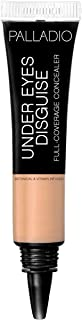 Palladio Under Eyes Disguise Full Coverage Concealer, Chai Tea, 0.35 oz, Creamy Face and Eye Concealer, Evens Skin Tone, Conceals Blemishes, Dark Circles and Fine Lines, Use with Concealer Brush